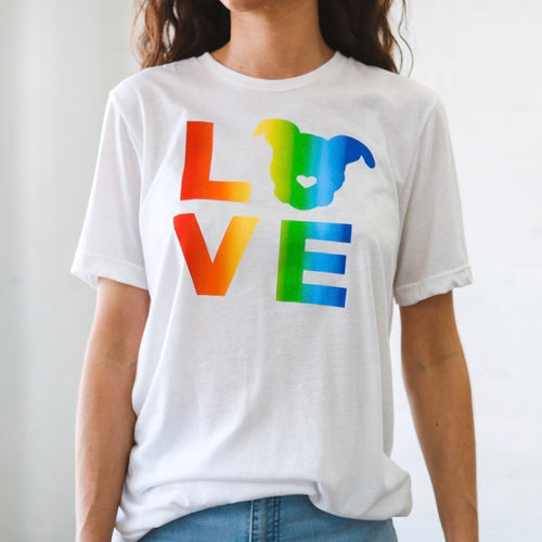 LOVE Tee // Rainbow White