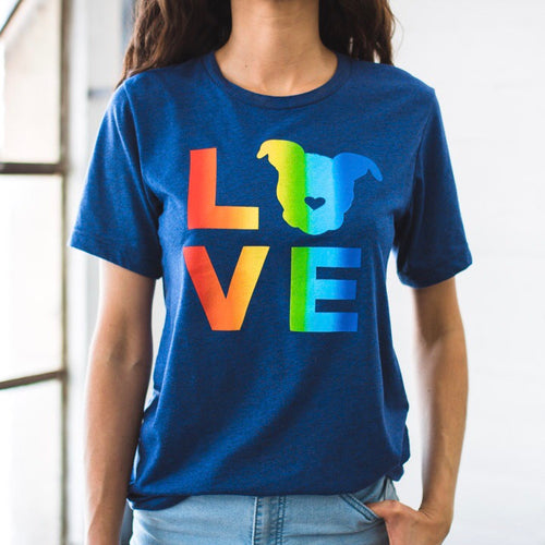 LOVE Tee // Rainbow Navy