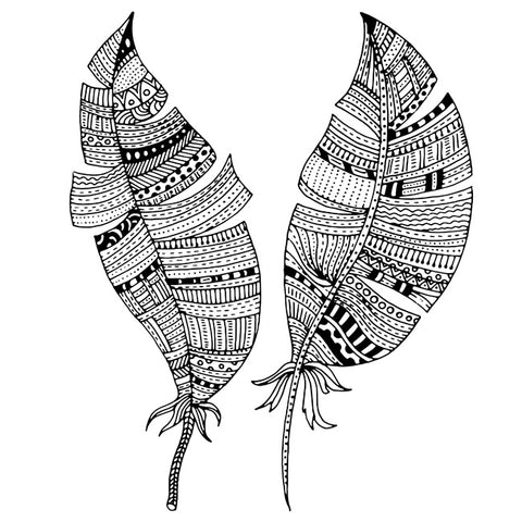 Image of Tribal Patterned Feathers by Nadezdha Shatilova