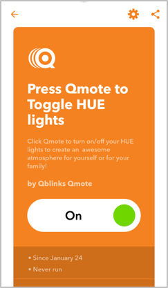A remote control smart button for your HUE light and IFTTT setting