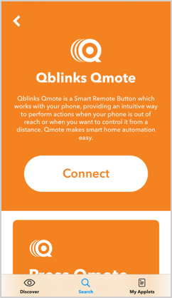 Use smart home button, Qmote, to activate IFTTT