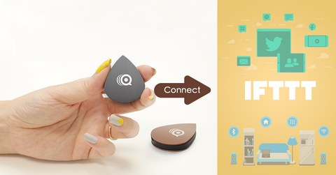 One click at a button to trigger IFTTT setup, your smart home button, Qmote, does everything for you.