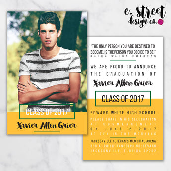 Grad Invitation F - Set of 12