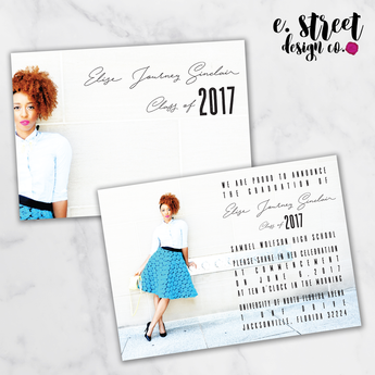 Grad Invitation J - Set of 12