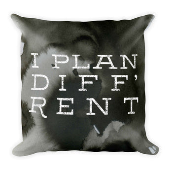 Plan Diff'rent Square Pillow