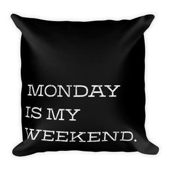 Monday Square Pillow
