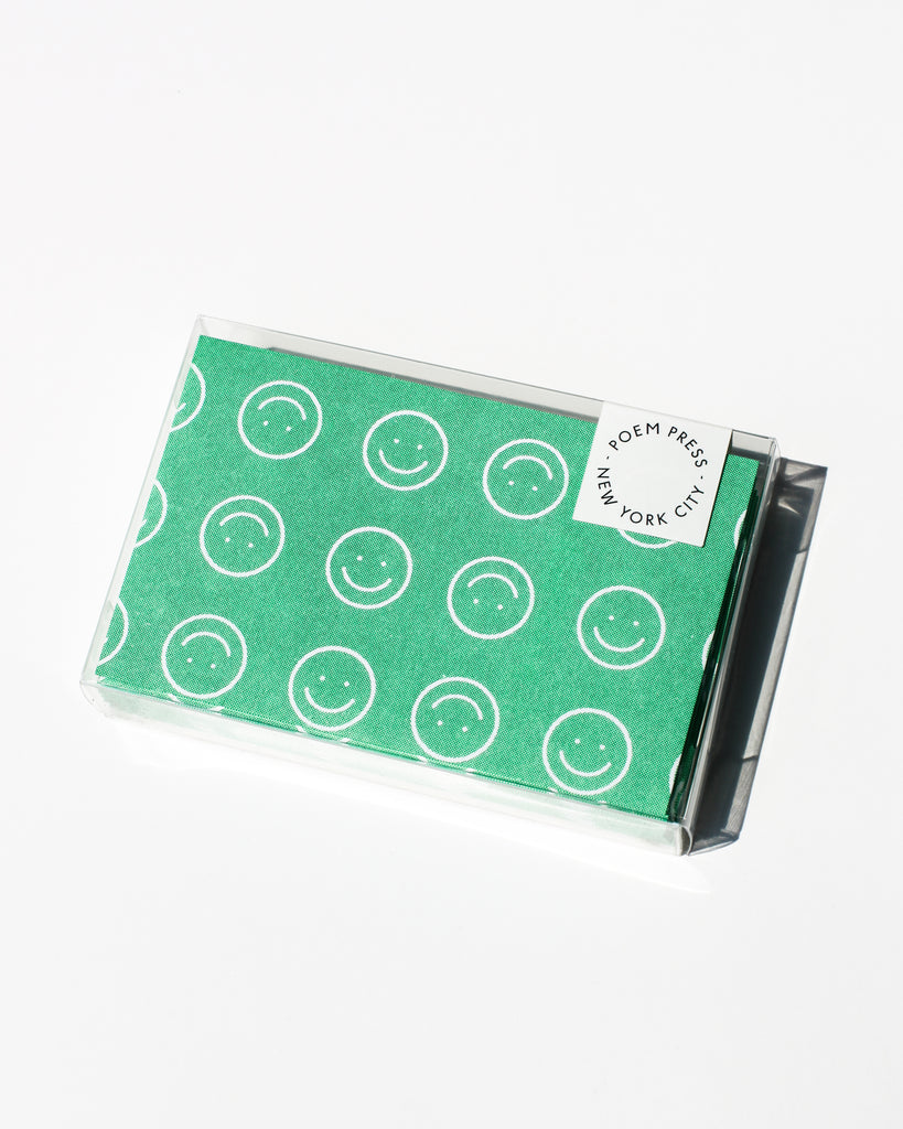 Green Smiley Notecards