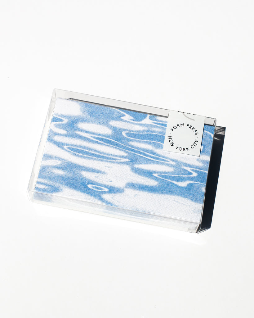 Blue Spill Envelope Set