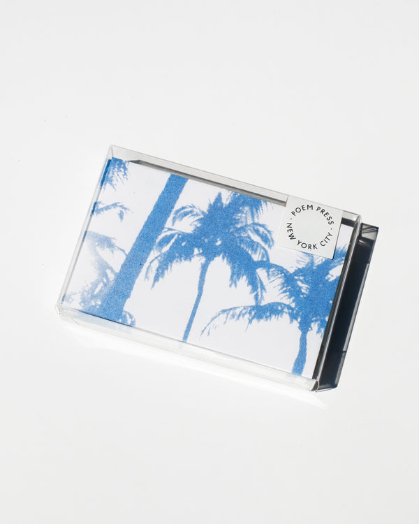Blue Palm Envelope Set