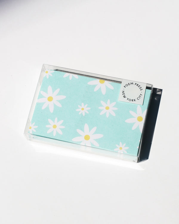 Mint Daisy Envelope Set