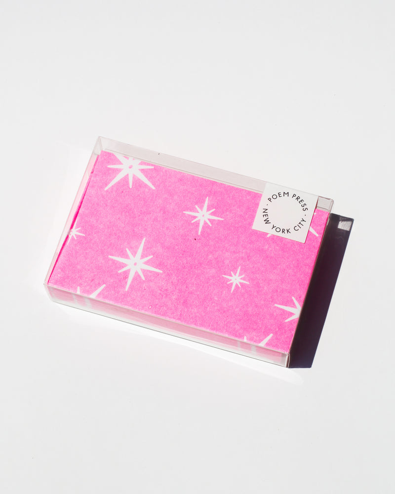Pink Star Notecards