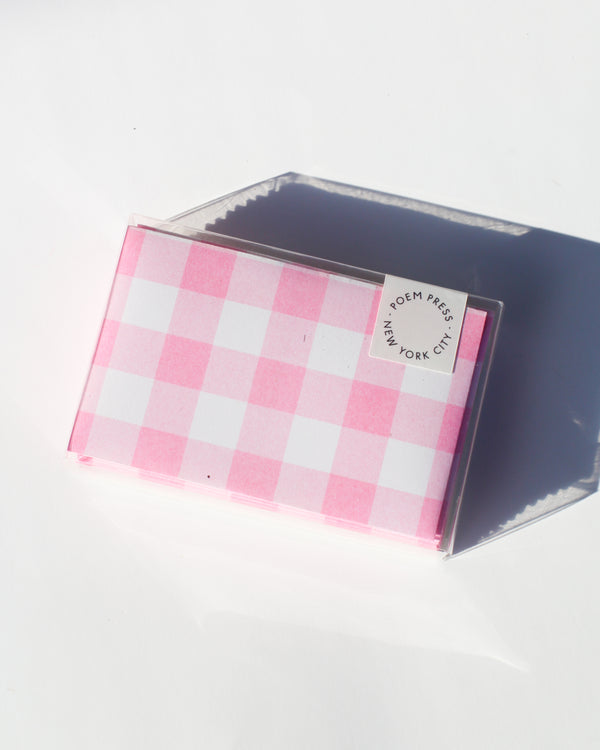 Bubblegum Gingham Envelope Set