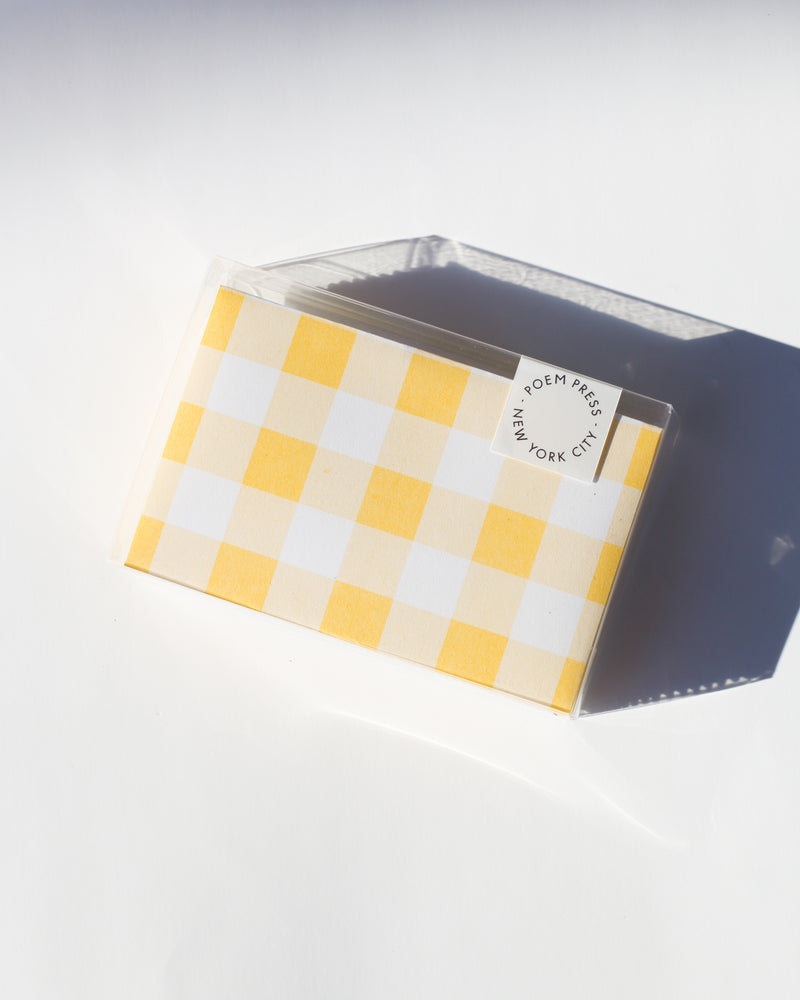 Sunflower Gingham Envelope Set