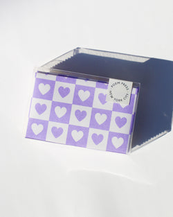 Violet Hearts Envelope Set