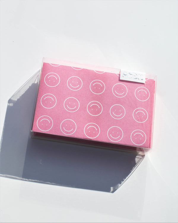Pink Smiley Envelope Set