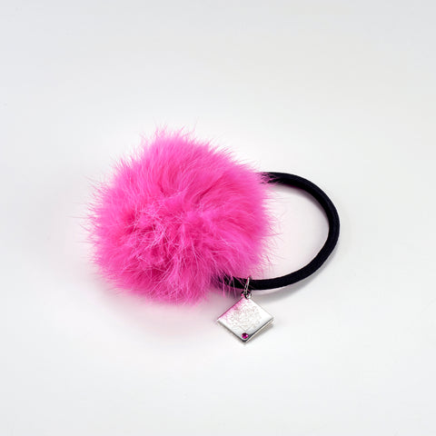 (Goods) IDOLiSH7 Fan Thanksgiving: Kimi to Motto x2 Ai wo Kataranaito! Fur Hair Tie - Momo