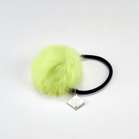 (Goods) IDOLiSH7 Fan Thanksgiving: Kimi to Motto x2 Ai wo Kataranaito! Fur Hair Tie - Yuki