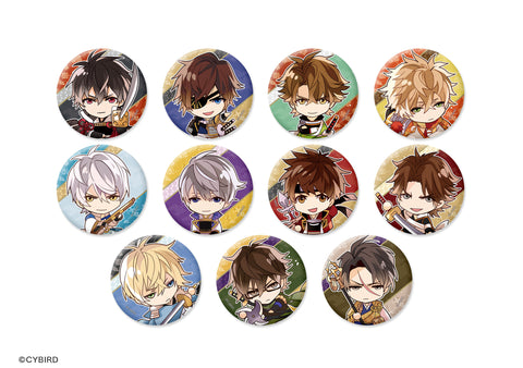 [※Blind Box] (Goods) Ikemen Sengoku: Love That Leaps Through Time Trading Button Badge - Chibi Characters