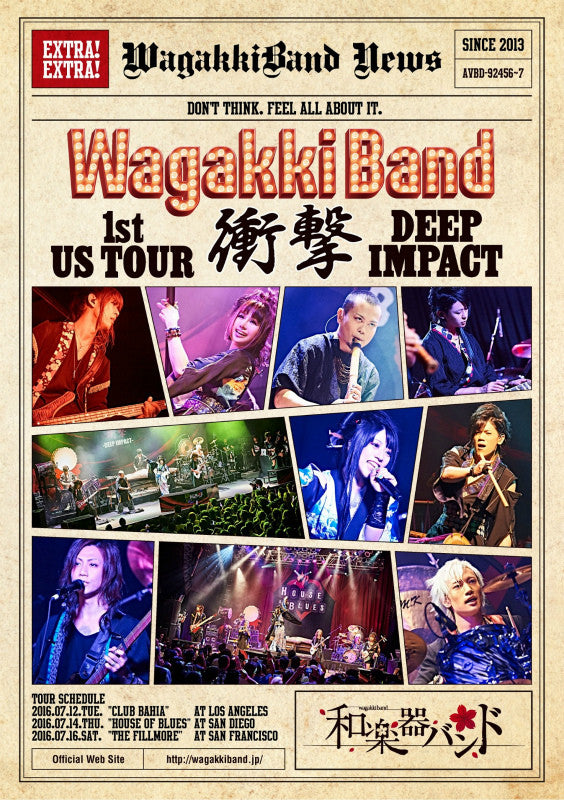 (DVD) Wagakki Band 1st US Tour Shogeki - DEEP IMPACT - [Limited Edition]