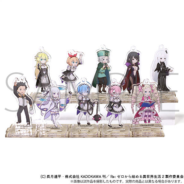 (1BOX=10)(Goods - Key Chain) Re:Zero - Starting Life in Another World Acrylic Key Chain w/ Stand Collection - ActiSta!