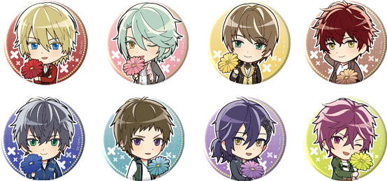 [※Blind Box] (Goods) Ikemen Revolution: Love & Magic in Wonderland Trading Button Badge - Marguerite Daisy Chibis