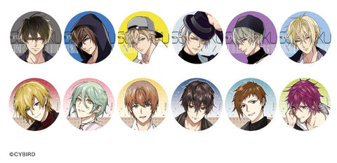 [※Blind Box] (Goods) Ikemen Vampire: Temptation in the Dark Trading Formal Button Badge