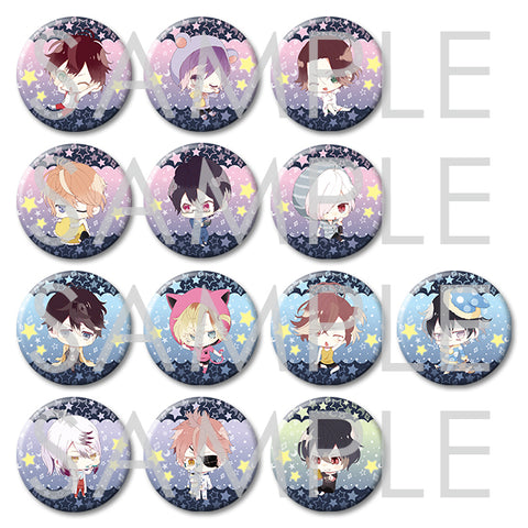 [※Blind Box](Goods) DIABOLIK LOVERS: OYASUMI CHIBIKKOVAMPIRE BIG BUTTON BADGES