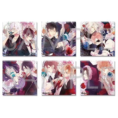[※Blind Box](Goods) DIABOLIK LOVERS: VERSUS SONG COVER ART COLLECTION SQUARE BUTTON BADGE