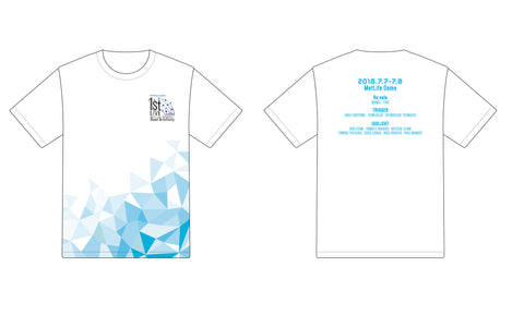 (Goods) IDOLiSH7 1st LIVE Road To Infinity Concert Logo T-Shirt (M)