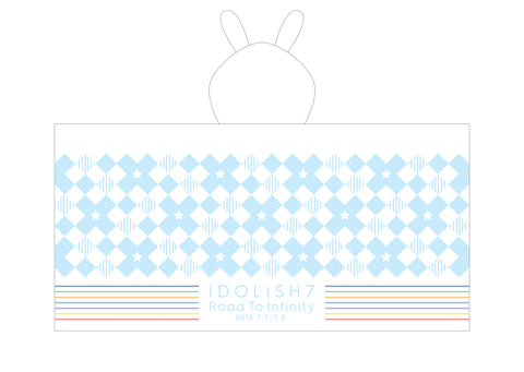 (Goods) IDOLiSH7 1st LIVE Road To Infinity IDOLiSH7 Towel with bunny-ears-hood