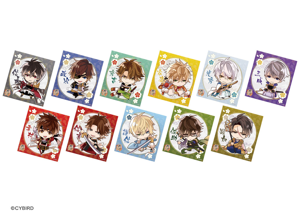 [※Blind Box] (Goods) Ikemen Sengoku: Love That Leaps Through Time Trading Art Board - Chibi Characters