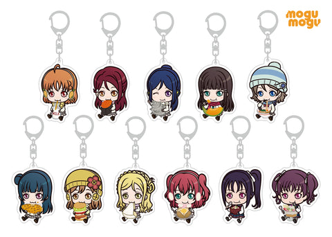 (1BOX=11) Love Live! Sunshine!! mogu mogu Saint Aqours Snow Acrylic Key Holder