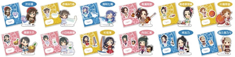 (1BOX=12)(Goods - Stand Pop) The Idolmaster Cinderella Girls Acrylic Character Collection Puchi Vol. 10