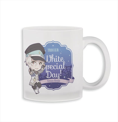 (Goods - Mug) IDOLiSH7 Nendoroid Plus Glass Mug Tenn Kujo White Special Day!