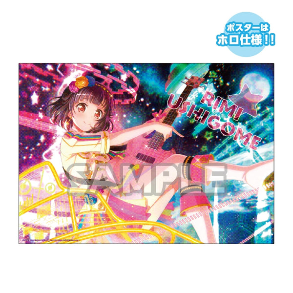 (1BOX=10) (Goods - Poster) BanG Dream! Girls Band Party! Trading Poster & File Poppin'Party