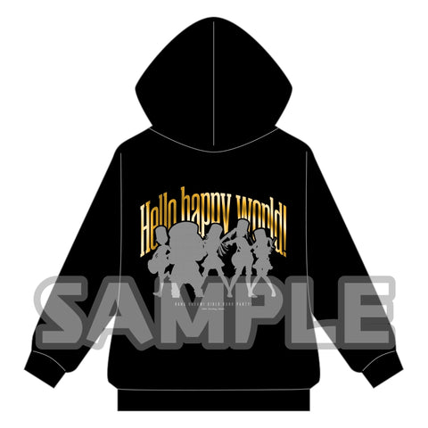 (Goods - Outerwear) BanG Dream! Girls Band Party! Metallic Print Zip Up Hoodie Hello, Happy World! L