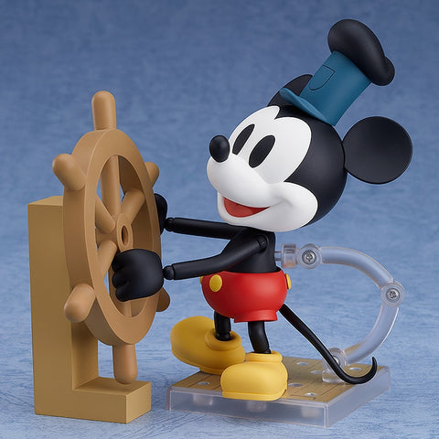 (Action Figure) Steamboat Willie Nendoroid Nendoroid Mickey Mouse: 1928 Ver. (Color)