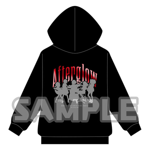 (Goods - Outerwear) BanG Dream! Girls Band Party! Metallic Print Zip Up Hoodie Afterglow L