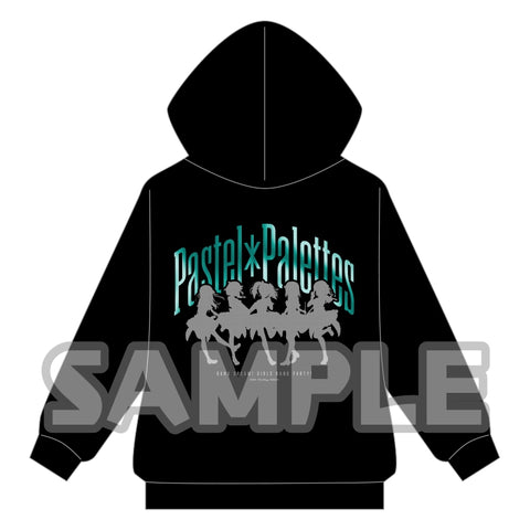 (Goods - Outerwear) BanG Dream! Girls Band Party! Metallic Print Zip Up Hoodie Pastel*Palettes L