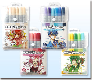 (Goods - Art Supplies) Copic Ciao Set of 6 Character Selection: Lovely Color