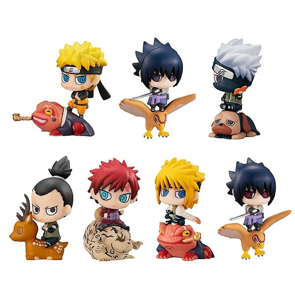 (1BOX=8)(Trading Figure) Naruto: Shippuden Petit Chara Land New Color! Summoning Technique