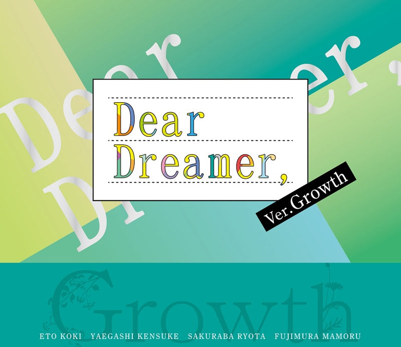 (Character Song) TSUKIPRO THE ANIMATION TV Series: Dear Dreamer, by Growth