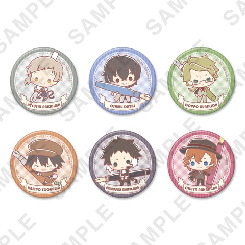 (1BOX=6) (Goods - Badge) Bungo Stray Dogs x Design produced by Sanrio Button Badge Plus