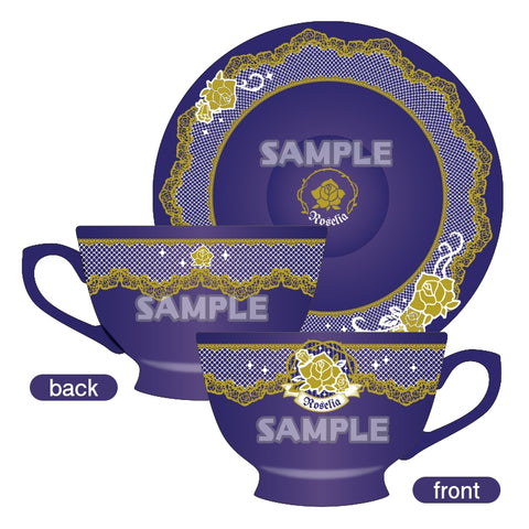 (Goods - Mug) BanG Dream! Girls Band Party! Roselia Cup & Saucer [animate Exclusive]