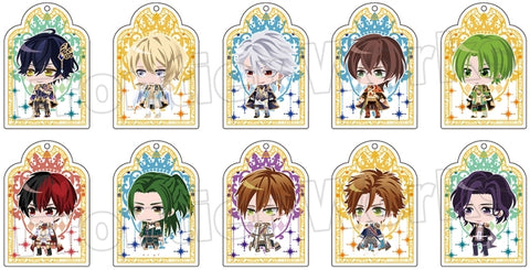 (1Box=10) (Goods - Key Chain) 100 Sleeping Princes & the Kingdom of Dreams Trading Acrylic Key Chain (Event Costume 7)