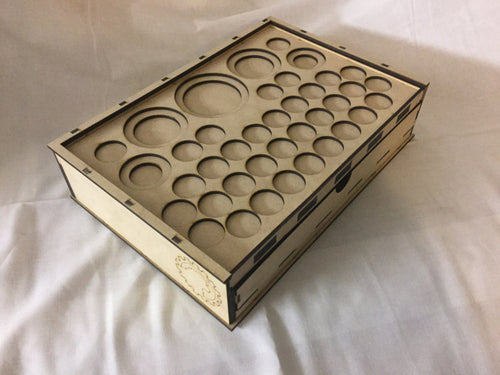 Skirmish Tournament Box Slotted Token Tray 70mm Lid