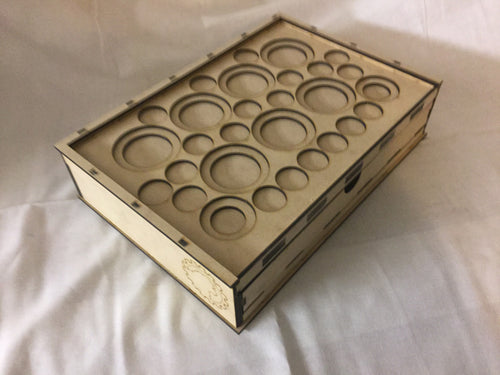 Skirmish Tournament Box Slotted Token Tray Toolen Lid (variant)