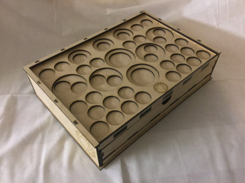 Skirmish Tournament Box Slotted Token Tray Remote Lid