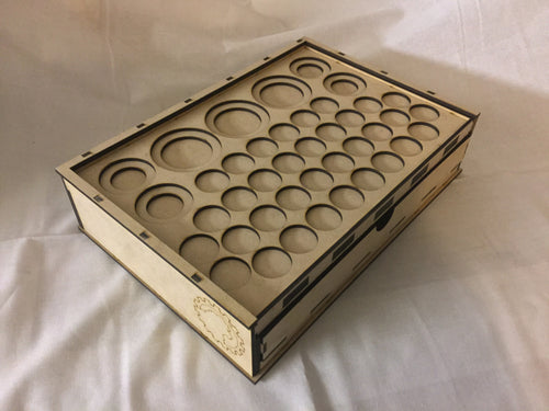 Skirmish Tournament Box Slotted Token Tray Standard Lid