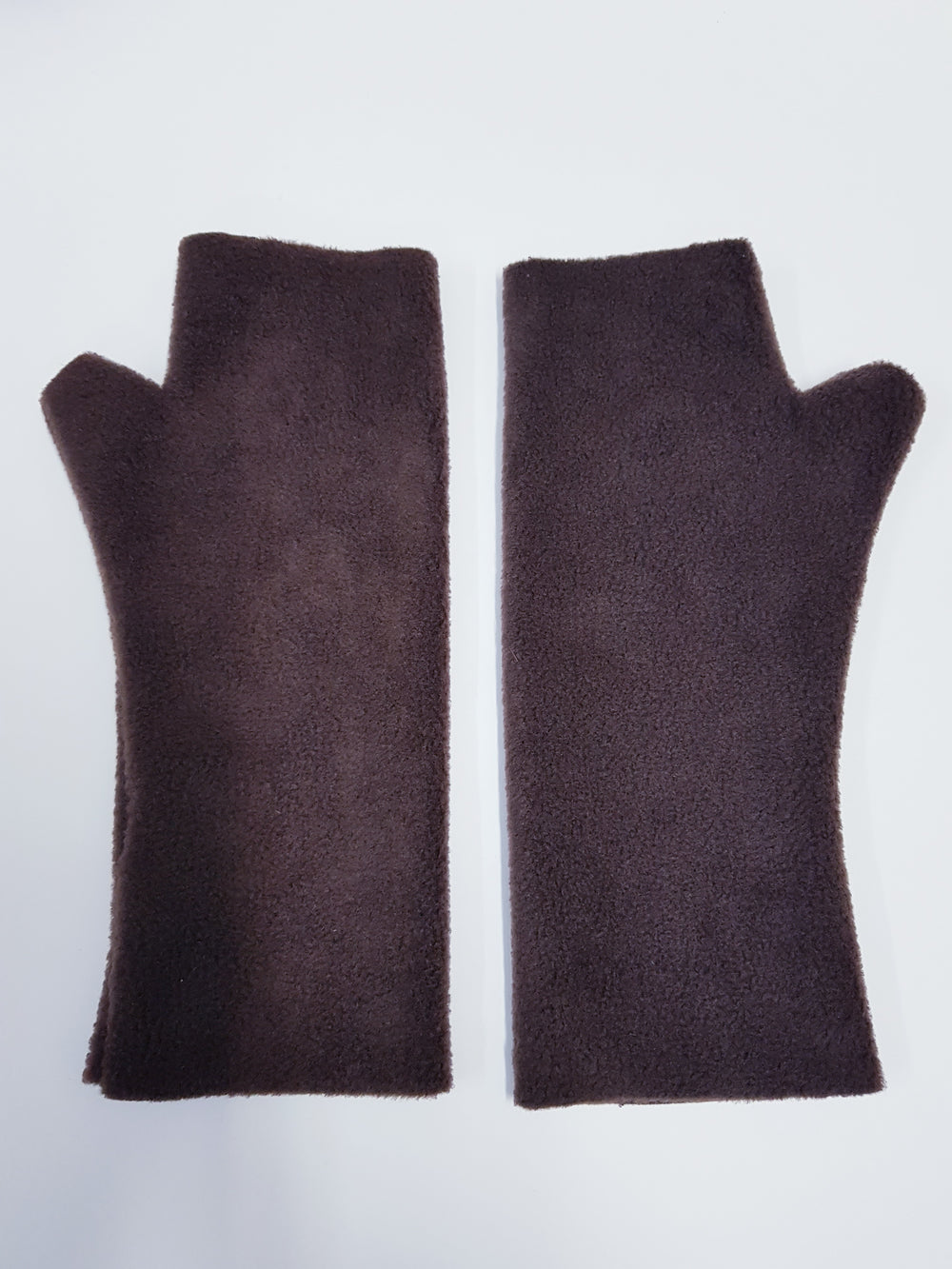 Brown fleece gloves